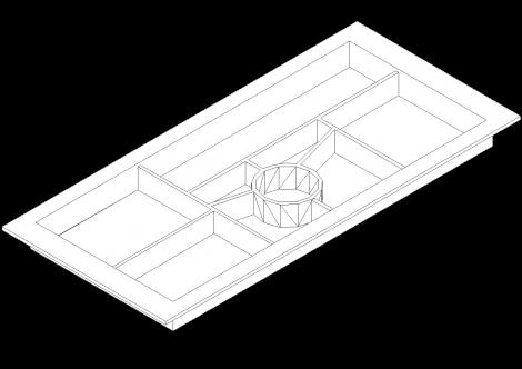 Svenbox piórnik nakładany do szuflady CH21