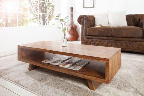 Stolik Kawowy drewniany Retro 110x45 cm lite drewno