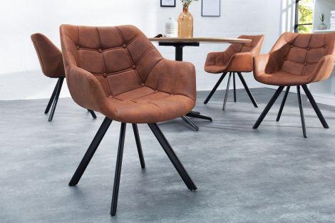Krzesło tapicerowane retro Dutch Courturier