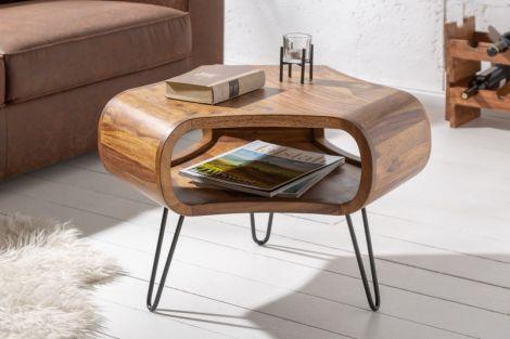 Stolik kawowy retro Organic Living - drewniany
