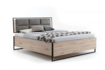 Łóżko GLASS LOFT z tapicerowanym zagłówkiem
