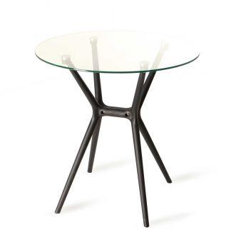 SF-T018 Stolik z blatem szklanym 70 cm KDK-Design