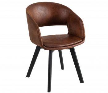 Krzesło tapicerowane z podłokietnikami Nordic Star vintage brąz