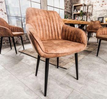 Krzesło tapicerowane Turin vintage brąz