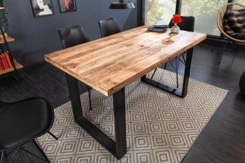 Stół Iron Craft 140x80 cm / naturalne drewno
