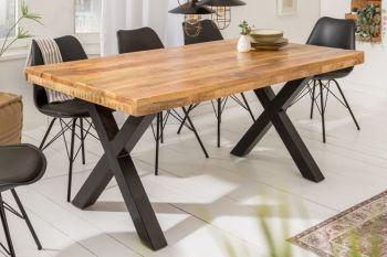 Stół loft Iron Craft  do jadalni 160x90 cm | lite drewno