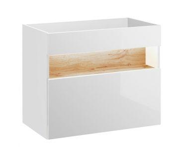 Szafka pod umywalkę 80 cm, podwieszana Bahama White 821 Podświetlenie LED