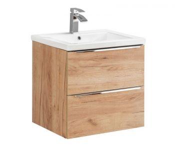 Szafka pod umywalkę 60 cm, podwieszana Capri Oak 820